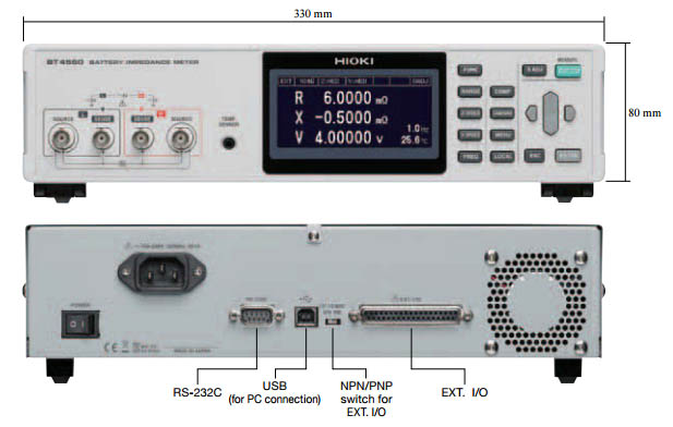 Medidor impedancia de batería BT4560